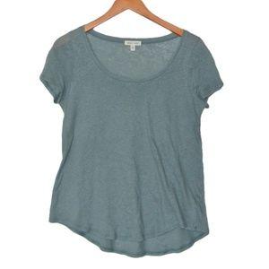 Silent + Noise Short Sleeve Tee Cotton Linen Blend